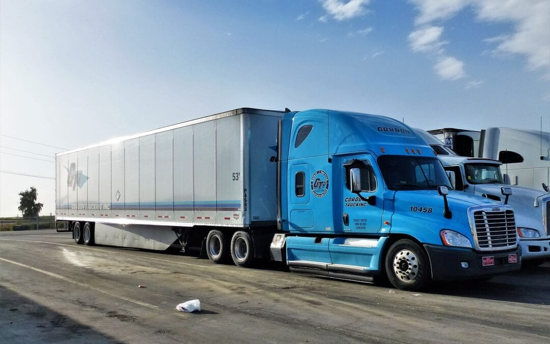 Transport truck automobile vehicle