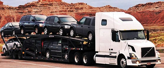 Car hauler for shipping