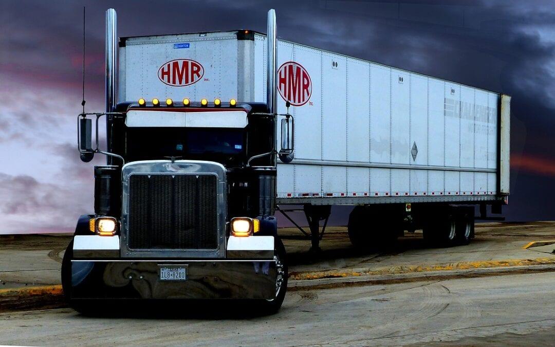 Transport truck counter flow