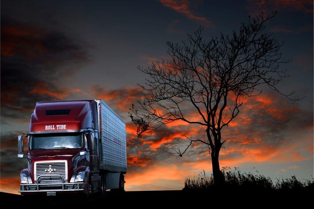 transport-truck-sunset-view