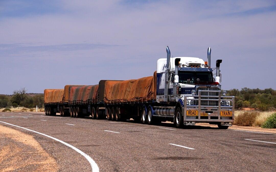 Truck road like a train