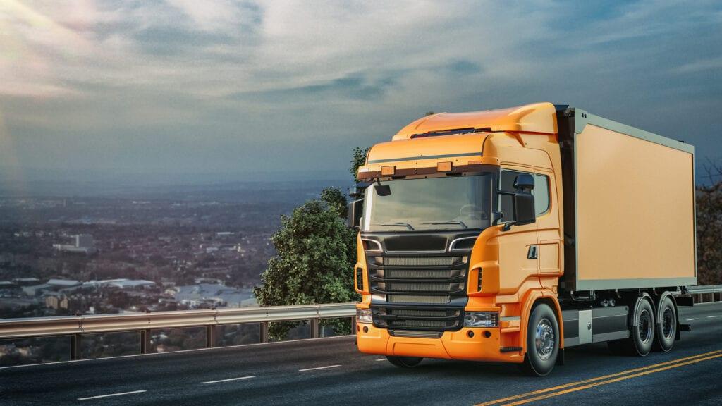 orange-truck-ran-road