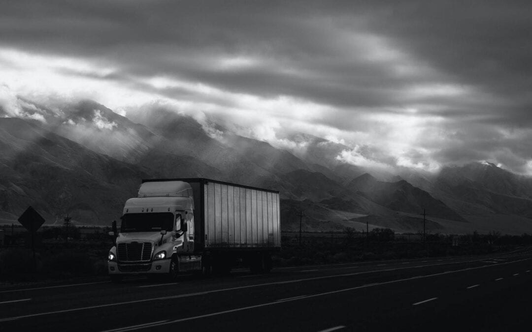 Truck under the cloudy
